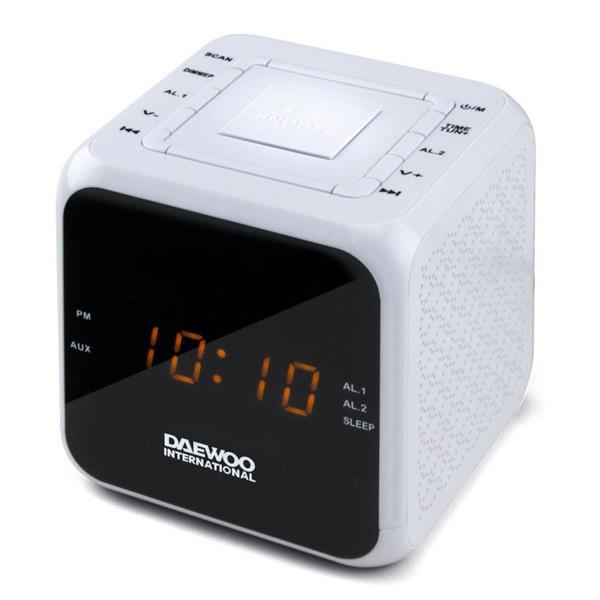 Zegar z Radiem Daewoo DCR-450 Biały