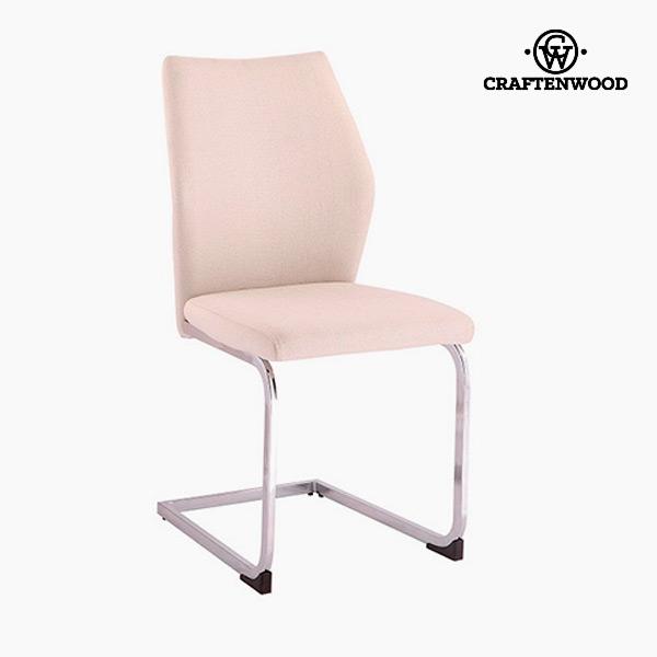 Krzesło Poliester Beżowy (42 x 59 x 105 cm) by Craftenwood