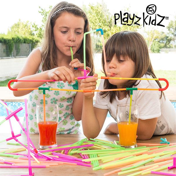 Brčková Stavebnice Playz Kidz (194 dílků)