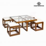 F-142 kávový stolek se 4 židlemi - Serious Line Kolekce by Craftenwood