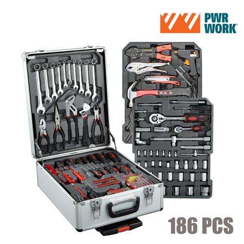 Walizka Narzędzi PWR Work (186 narzędzi)