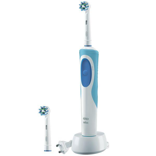 Elektrický zubní kartáček Oral-B CrossAction Plus Vitality Modrý Bílý