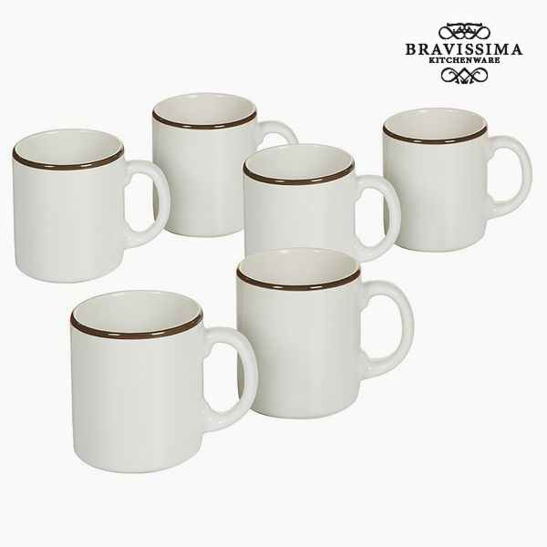 Set of jugs China crockery Bílý Kaštanová (6 pcs) - Kitchen's Deco Kolekce by Bravissima Kitchen