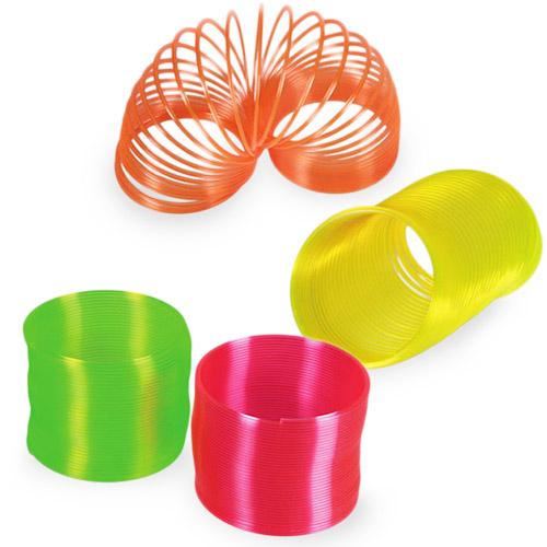 Plastová Neonová Pružina pro Děti - Oranžový