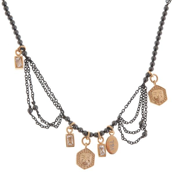 Dámský náhrdelník V&L VJ0091GA