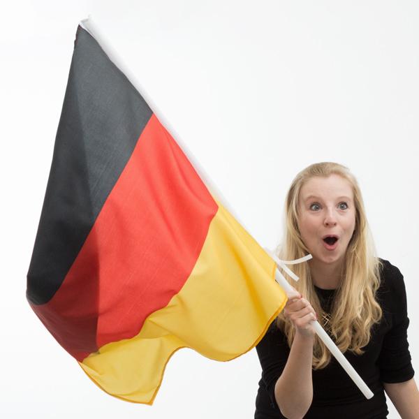 Německá Vlajka na Žerdi (90 x 60 cm)