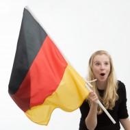 Vlajka na žerdi (90x60 cm) - německá