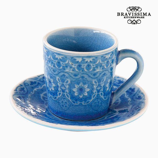 Hrnek s Podšálkem Porcelán Modrý by Bravissima Kitchen