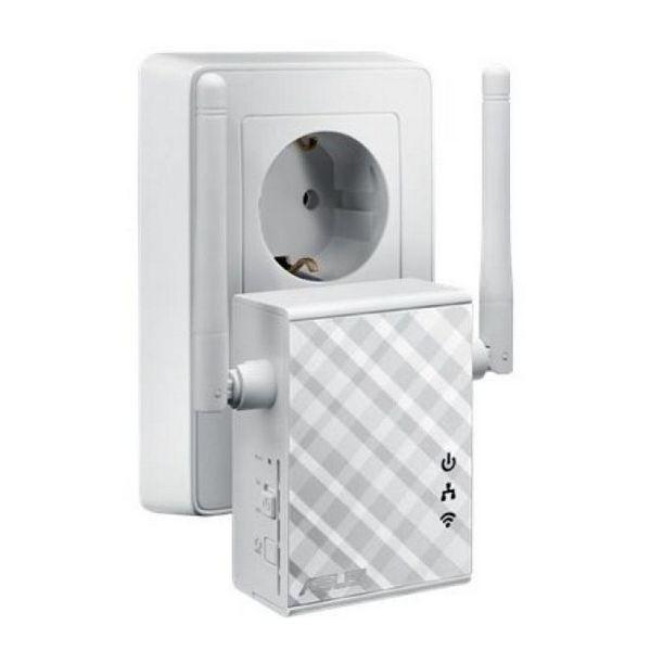 Punkt Dostępu ze Stacją Przekaźnikową Asus 90IG01X0-BO210 N300 10 / 100 Mbps 2 x 2 dBi