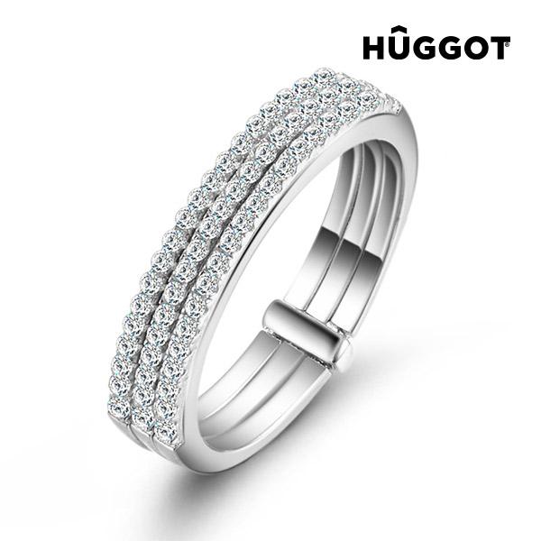 Prsten ze sterlingového stříbra 925 se zirkony Three Hûggot - 17,5 mm