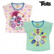 Koszulka z krótkim rękawem dla dzieci Trolls 8897 Kolor zielony (rozmiar 3 lat)