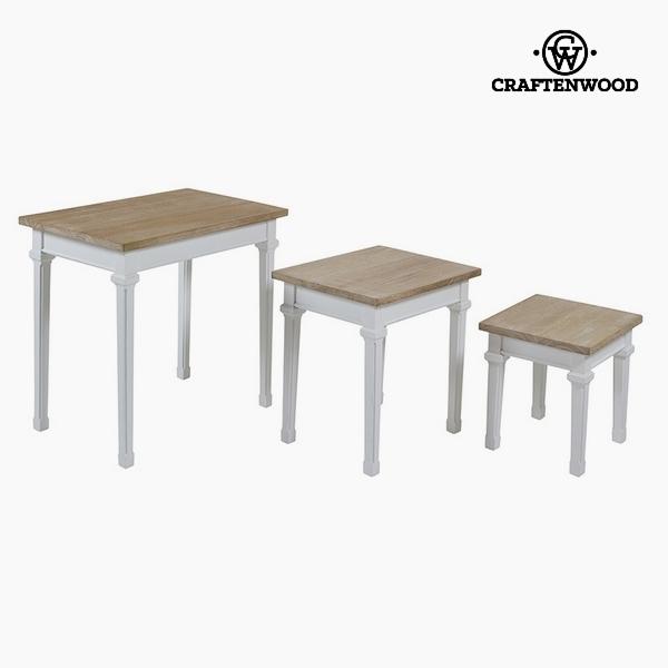 Souprava 3 stolů Dřevo paulovnie Dm by Craftenwood