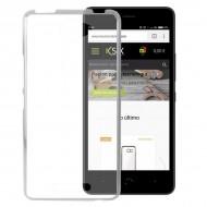 Puzdro na mobil Aquaris U Flex Transparentná