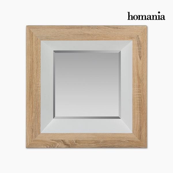 Lustro Dm Szkło fazowane Drewno Biały (67 x 7 x 67 cm) by Homania