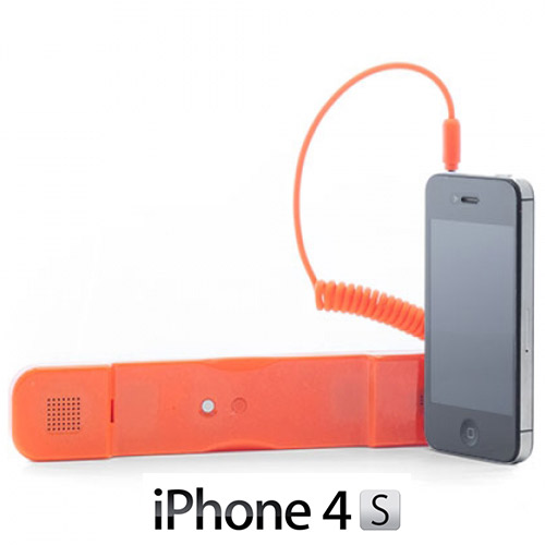 Antiradiační Sluchátko pro iPhone - Oranžový