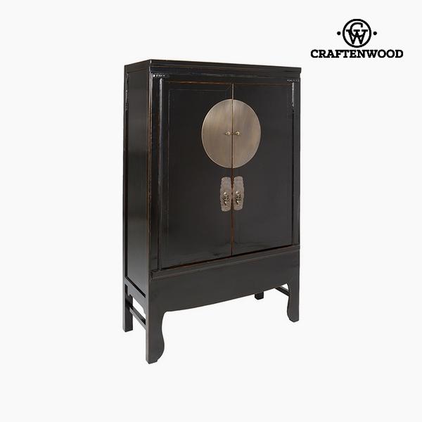Skříňka Jilmové dřevo Černý (108 x 49 x 172 cm) by Craftenwood