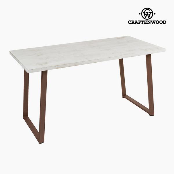 Psací stůl Dřevo Bílý (140 x 70 x 75 cm) by Craftenwood