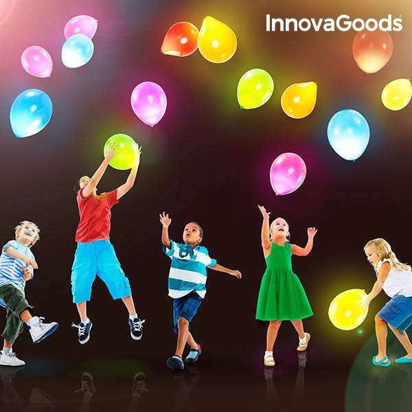 Svíticí LED Balonky InnovaGoods (10 kusů)