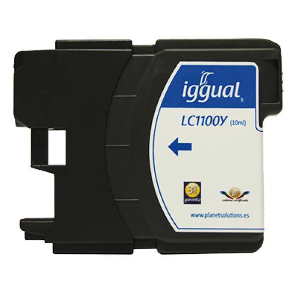 Recyklovaná Inkoustová Kazeta iggual Brother PSILC1100Y Žlutý