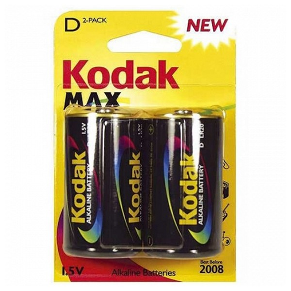 Alkalická baterie Kodak LR20 1,5 V (2 pcs)