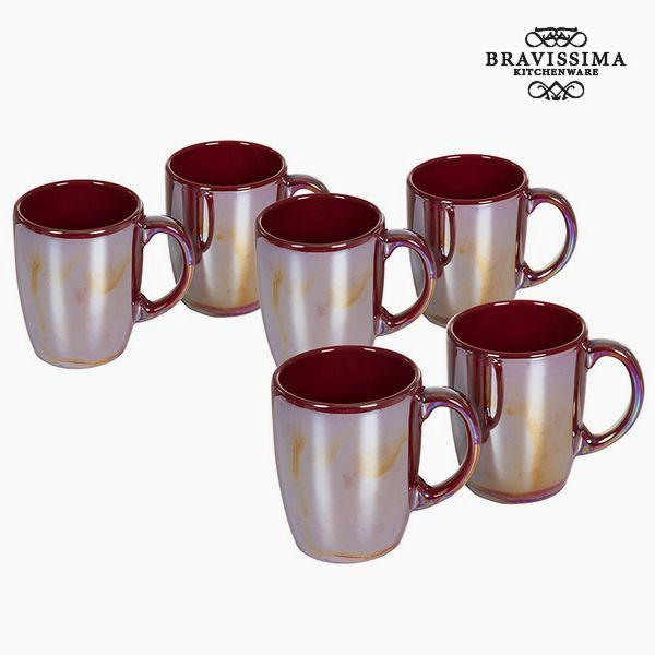 Set of jugs China crockery Burgundská (6 pcs) - Kitchen's Deco Kolekce by Bravissima Kitchen