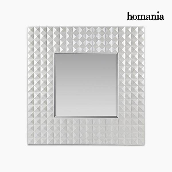 Lustro Żywica syntetyczna Szkło fazowane Biały (92 x 4 x 92 cm) by Homania