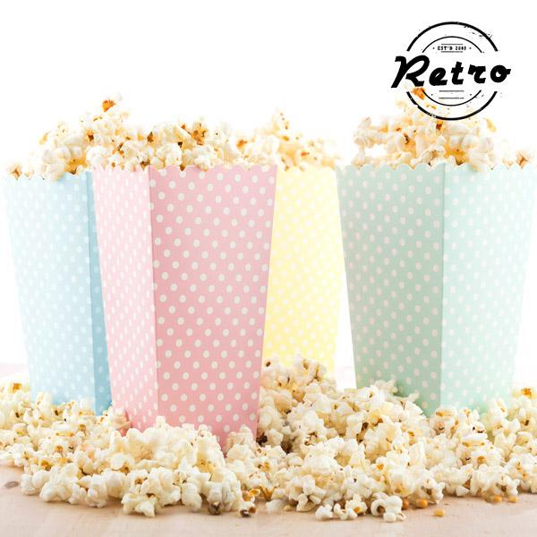 Kyblík na Popcorn s Puntíky (10 kusů)