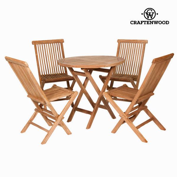 Komplet stołowy z 4 krzesłami by Craftenwood