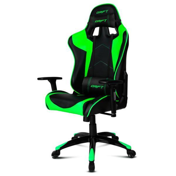 Fotel dla Graczy DRIFT DR300BG 90-160º Piana Czarny Kolor Zielony