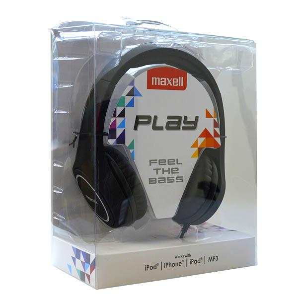 Słuchawki Maxell Play MXH-HP500 Czarny Diadem