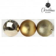 Vianočné gule Christmas Planet 7193 10 cm (3 uds) Zlatá