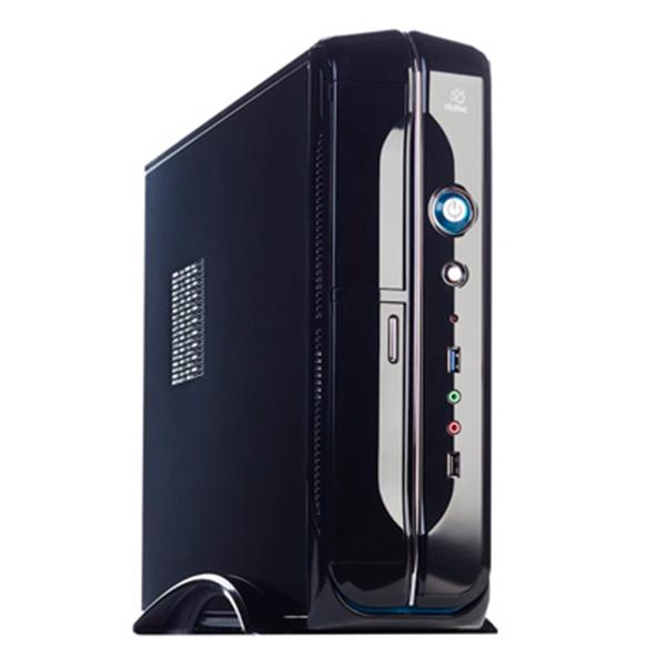 Počítačová skříň Micro ATX se zdrojem napájení Hiditec CH50SLM118 USB 3.0 Černý