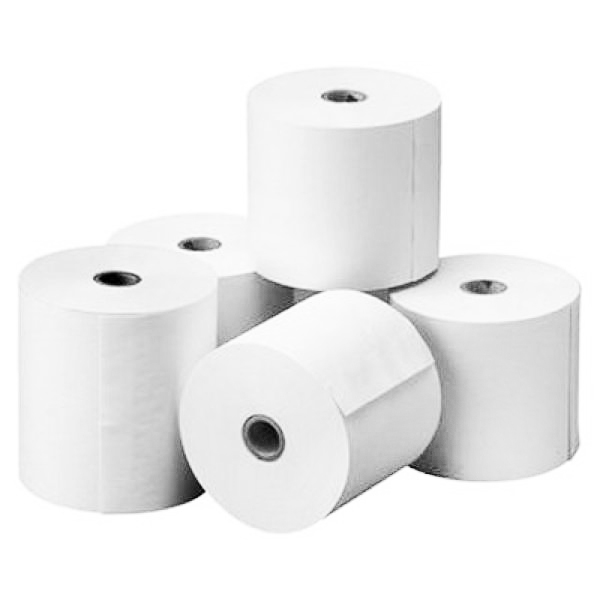 PAPER ROLL FOR THERMAL PAPER 80X80X12 MM PACK 5 jedn.