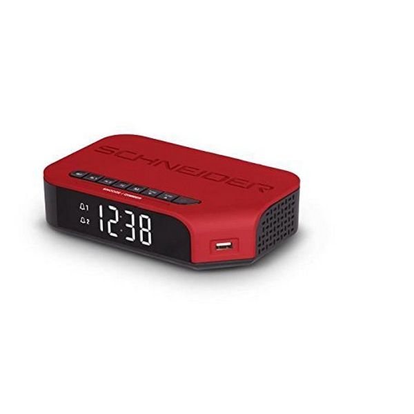 Zegar z Radiem SCHNEIDER VIVA SC310ACLRED AM/FM USB Czerwony