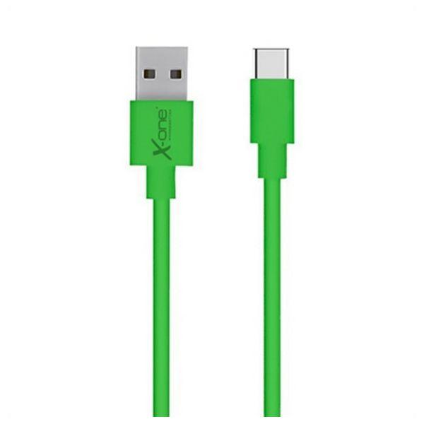 Kabel USB A 2.0 na USB C Ref. 101196 Kolor Zielony