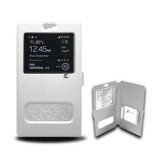 Univerzální pouzdro na mobilní telefon s okénkem Ref. 106900 Velikost S Bílý