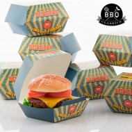 Krabičky na Burgery BBQ Classics (8 kusů)
