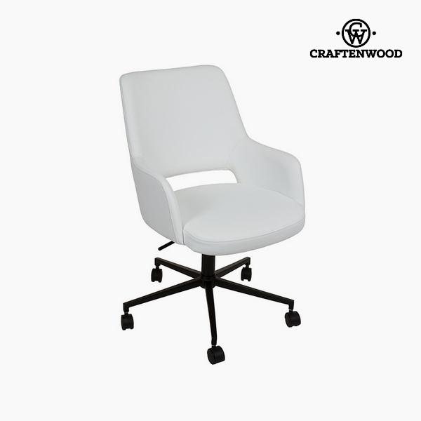 Krzesło Biały Sztuczna skóra (62 x 62 x 90cm) by Craftenwood