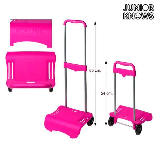 Skládací vozík na tašky Junior Knows 88292 (80 x 28 cm) Fuchsiová