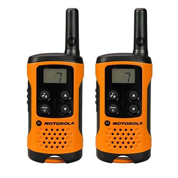 Přenosná vysílačka Motorola TLKR T41 4 km LCD 16 h AAA Černý Oranžový