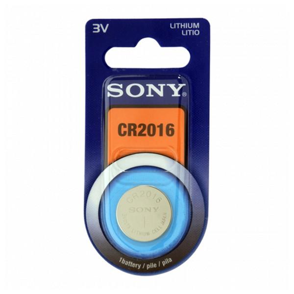 Knoflíková lithiová baterie Sony CR2016B1A 3 V 90 mAh Šedý
