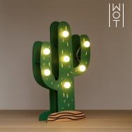 Drewniany Kaktus Dekoracyjny Wagon Trend (7 LED)