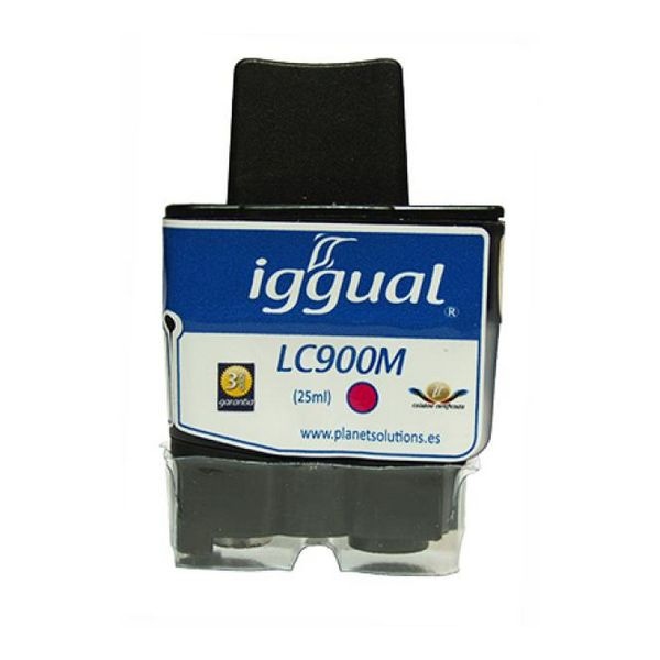Tusz z Recyklingu iggual Brother PSILC900M Magenta