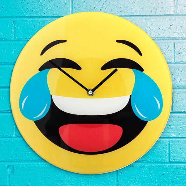 Zegar Ścienny Emotikona Śmiech