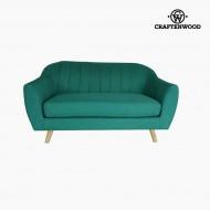 Canapea cu 2 Locuri Lemn de pin Poliester Verde (145 x 83 x 83 cm) by Craftenwood
