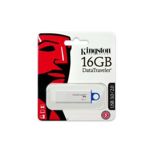 Pendrive Kingston DTIG4 16 GB USB 3.0 Biały Niebieski