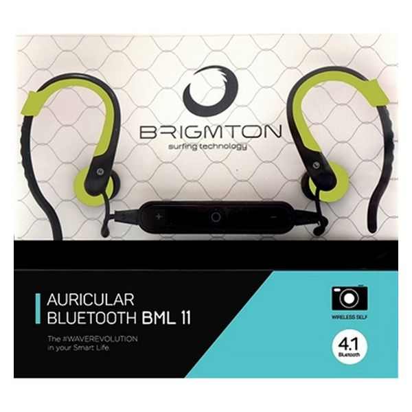 Bluetooth sluchátka s mikrofonem BRIGMTON BML-11-V Zelená