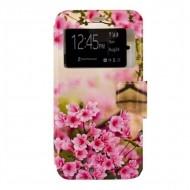 Torba Huawei G8 Ref. 197083 PU Różowe Kwiaty
