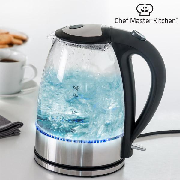 Elektrická Rychlovarná Konvice s LED Chef Master Kitchen