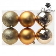 Vianočné gule Christmas Planet 7933 8 cm (6 uds) Zlatá